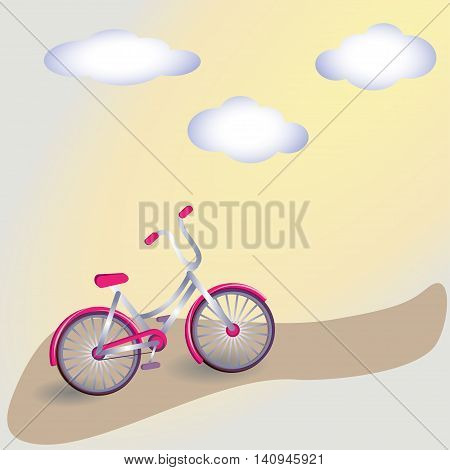 Vintage Bicycle Vintage Retro Bicycle Background. Retro Illustration Bicycle. Illustration of bicycle. Vector card with bicycle. Simple illustration of bicycle.