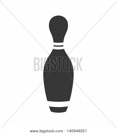 Bowling pin sport game hobby icon. Isolated and flat illustration. Vector graphic