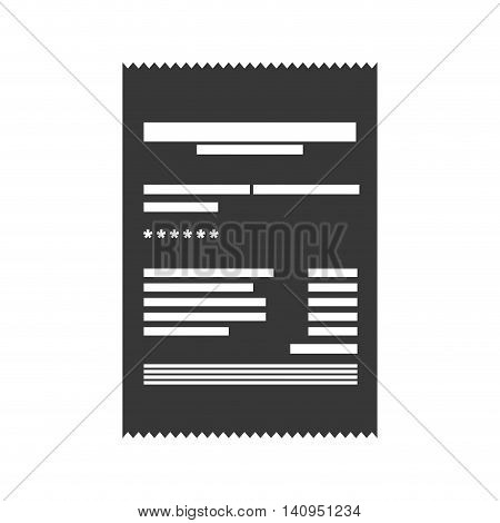 Invoice document money payment buy icon. Isolated and flat illustration. Vector graphic