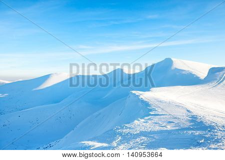Beautiful Winter Mountains With Snow