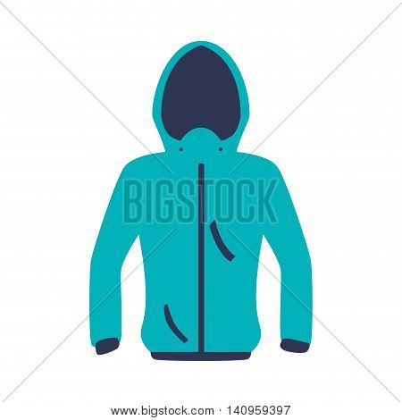jacket cloth fashion winter cold icon. Isolated and flat illustration. Vector graphic