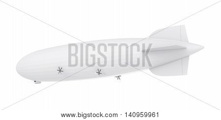 Airship isolated on white background. 3D render