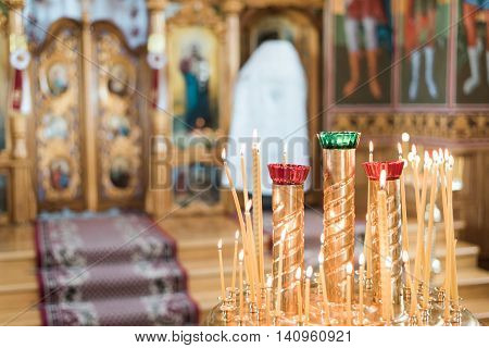 Interior Of The Orthodox Church Beautiful Inside