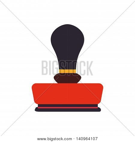 seal office machine label antique icon. Isolated and flat illustration. Vector graphic