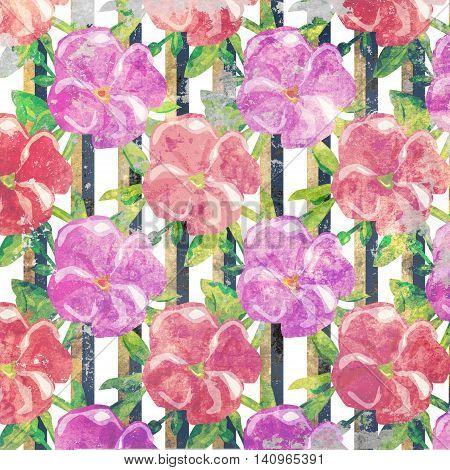 Grunge floral pattern vintage style background illustration