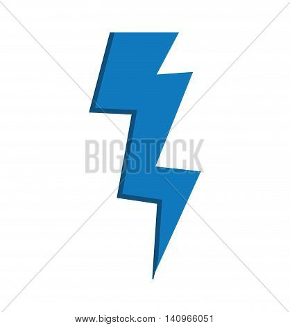 blue thunder weather climate battery icon. Isolated and flat illustration. Vector graphic