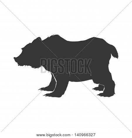 bear wild animal silhouette predator icon. Isolated and flat illustration. Vector graphic