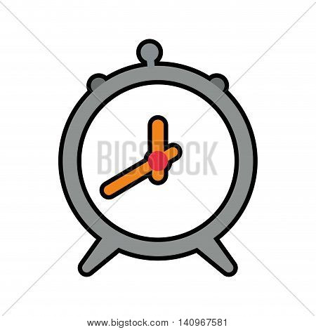 clock wake up circle time traditional icon. Isolated and flat illustration. Vector graphic