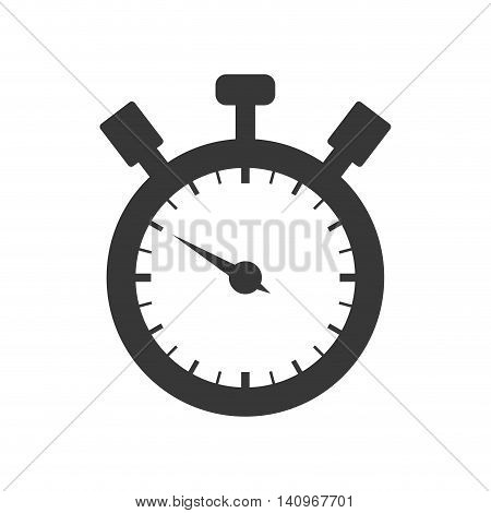 chronometer circle time traditional icon. Isolated and flat illustration. Vector graphic