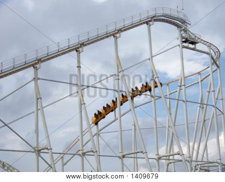 Roller Coaster In The Amusement Park
