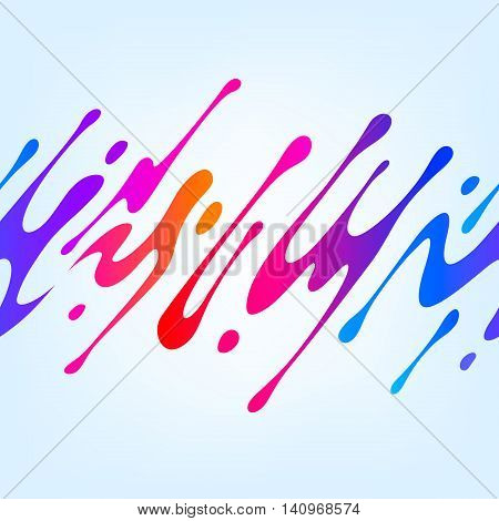 Vector illustration with abstract colorful shape. Abstract splash, liquid shape. Background for poster, cover, banner, placard. Logo design. Seamless pattern