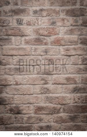 Old brick wall texture with vignette effect