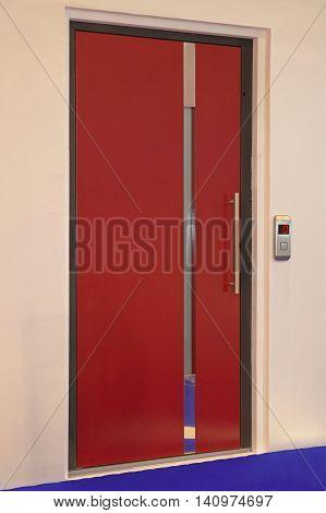 Modern Red Door for Lift Elevator Entrance
