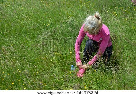 Woman Preparing For Sport Activity