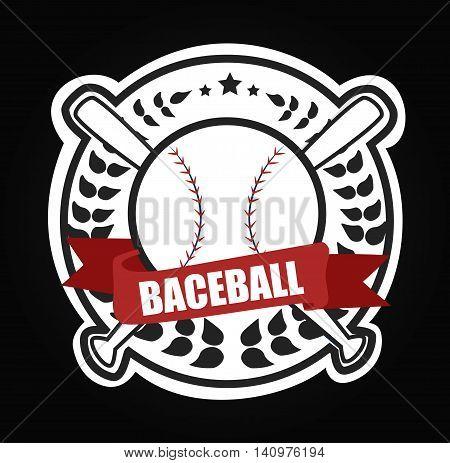 Vector sport logo Baseballs vector illustration art