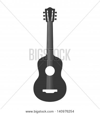 guitar string instrument music icon. Isolated and flat illustration. Vector graphic