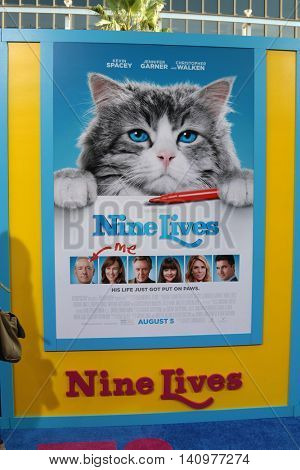 LOS ANGELES - AUG 1:  Nine Lives Poster at the