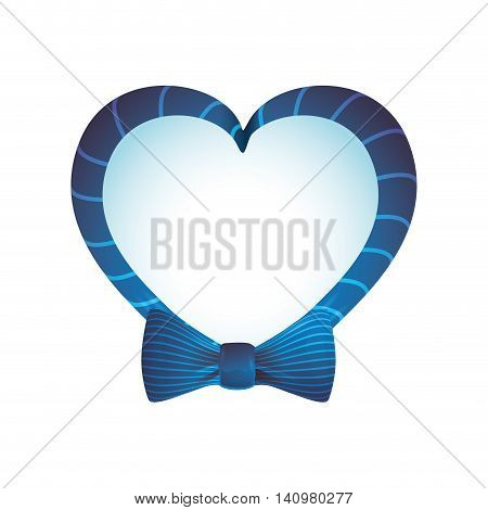 bowtie heart cloth male man gentleman icon. Isolated and flat illustration. Vector graphic