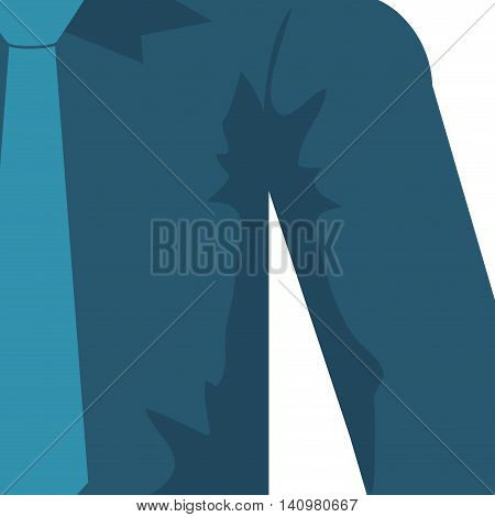 necktie shirt blue cloth male man icon. Isolated and flat illustration. Vector graphic