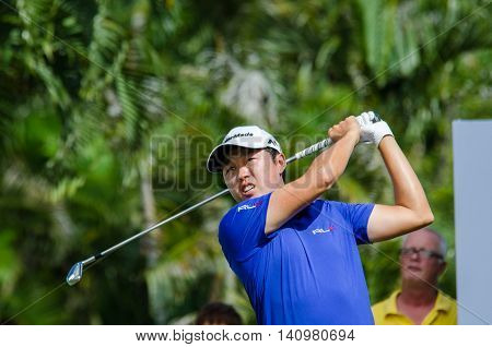 CHONBURI - JULY 31 : David Lipsky of USA in King's Cup 2016 at Phoenix Gold Golf & Country Club Pattaya on July 31 2016 in Chonburi Thailand.