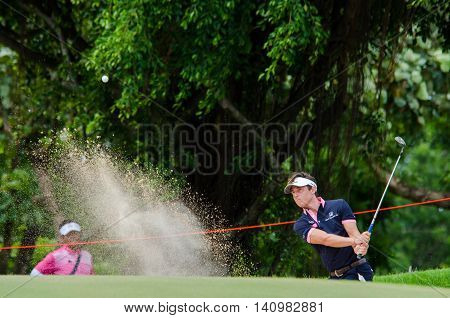 CHONBURI - JULY 31 : Victor Gebhard Osterby of Denmark in King's Cup 2016 at Phoenix Gold Golf & Country Club Pattaya on July 31 2016 in Chonburi Thailand.