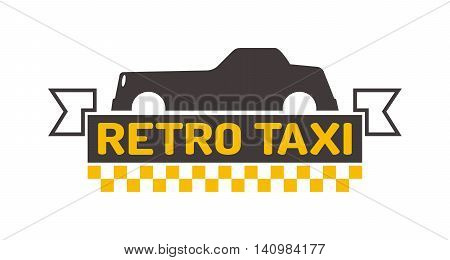 Vintage and modern taxi logo, taxi label, taxi badge