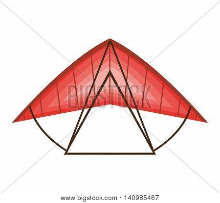 paraglinding extreme sport icon vector illustration design