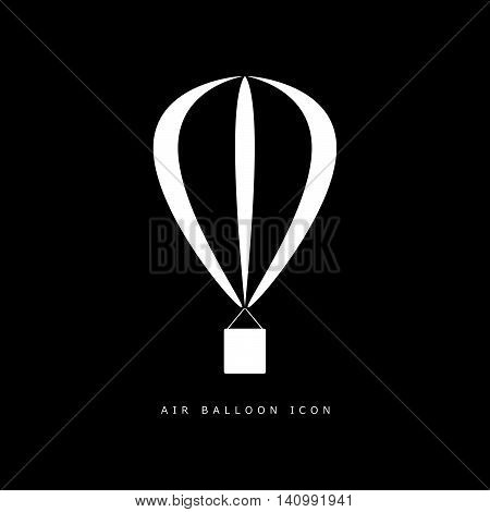 Balloon Air Icon In White Color Illustration On Blue
