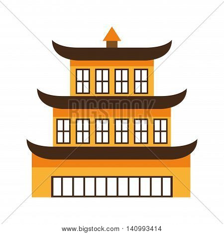 building culture japanese icon vector illustration icon