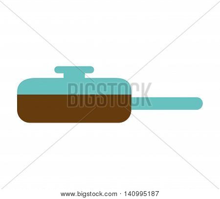 pan kitchenware isolated icon vector illustration graphic