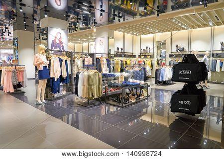 KUALA LUMPUR, MALAYSIA - CIRCA MAY, 2016: interior of a store at shopping center in Kuala Lumpur. Kuala Lumpur has numerous shopping centers.