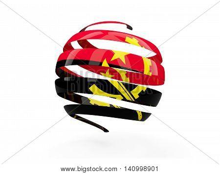 Flag Of Angola, Round Icon