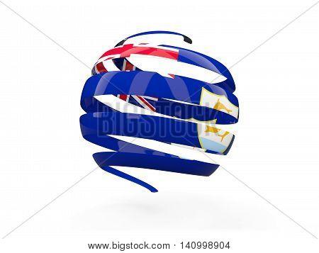 Flag Of Anguilla, Round Icon