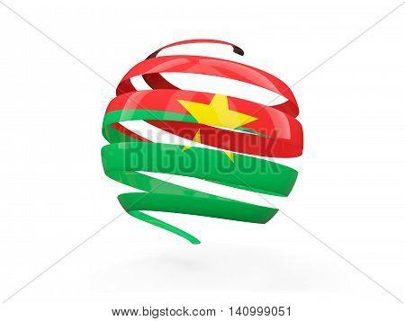 Flag Of Burkina Faso, Round Icon