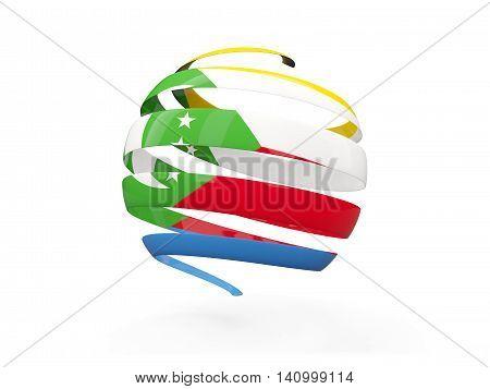 Flag Of Comoros, Round Icon