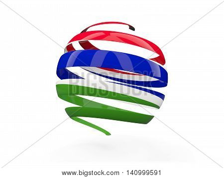 Flag Of Gambia, Round Icon