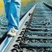 Walking on railroad