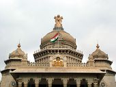 stock photo of vidhana soudha  - indian national emblem  - JPG