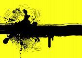 foto of smut  - grunge background with stains and blots on yellow - JPG