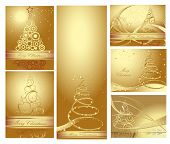 Collection of Merry Christmas and Happy New Year