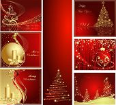 image of christmas wreaths  - Merry Christmas and Happy New Year collection - JPG