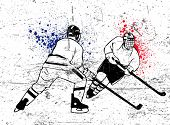 stock photo of ice hockey goal  - hockey vector poster - JPG