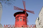 picture of moulin rouge  - The famous cabaret Moulin rouge in Paris France - JPG