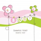 pic of cute baby  - Baby arrival card - JPG