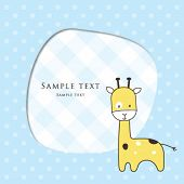 picture of baby-boy  - Baby boy arrival card - JPG