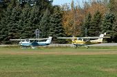 stock photo of cessna  - Tow Cessna 150 - JPG