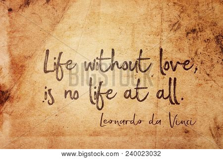 Life Without Love Is No