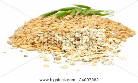 Whole Oats, Oat Flakes And Ear