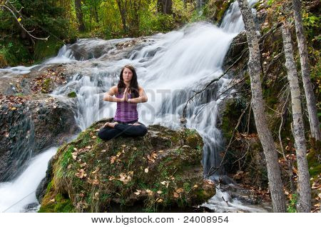 Attractive Girl Meditating