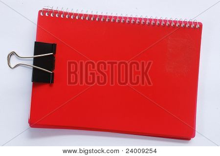 Red Notebook Clip